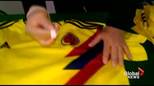 Bogota police seize fake Columbia World Cup shirts laced with cocaine